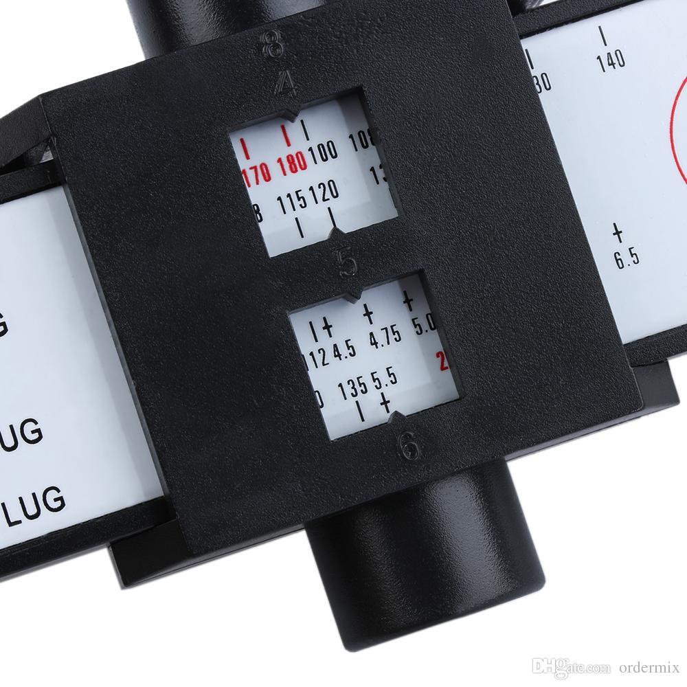 4 5 6 8 Holes Lug Wheel Bolt Pattern Gauge Quick Measuring Measurement Hand Tool