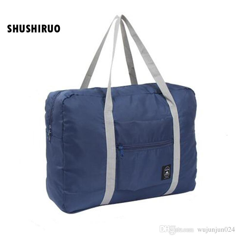 SHUSHIRUO Large Capacity Folding Travel Bag Waterproof Unisex Luggage Nylon Duffle  Bag Airplane Pattern Clothes Storage Handbags Buy Bags Online Bags Online  ... 7df1dd5fbc096