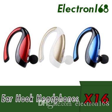 fdf7c7b77 Manos Libres Telefono Movil X16 Auriculares Inalámbricos Bluetooth  Auriculares Gancho Para La Oreja Estéreo Deporte Auriculares Con Micrófono  Para Iphone 8 ...
