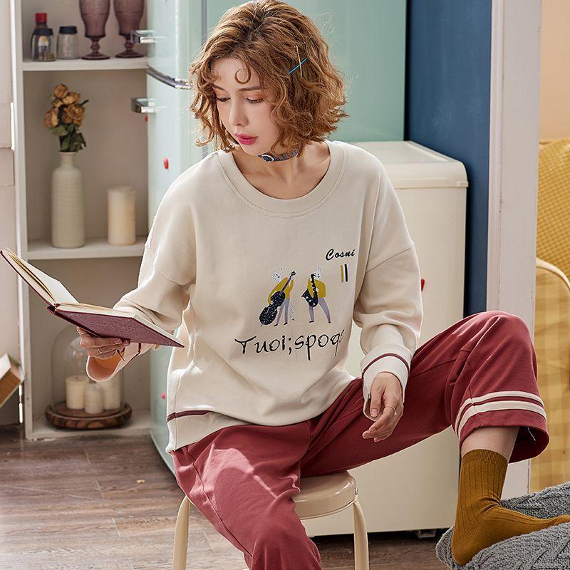 6611dc6b98 2019 J Q New Sleepwear Women Pajamas Pijama Women Home Wear Pyjama Femme  Shein Pyjamas Sleepwear Cotton Clothes Home Wear Suits From Kingflower