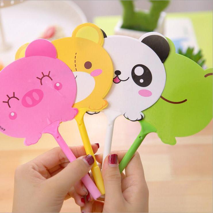 4 Pieces Lytwtw s Ballpoint Pen School Supply Creative Stationery Freebie  Panda Office Gift Frog Chancery Cartoon Animals Fan