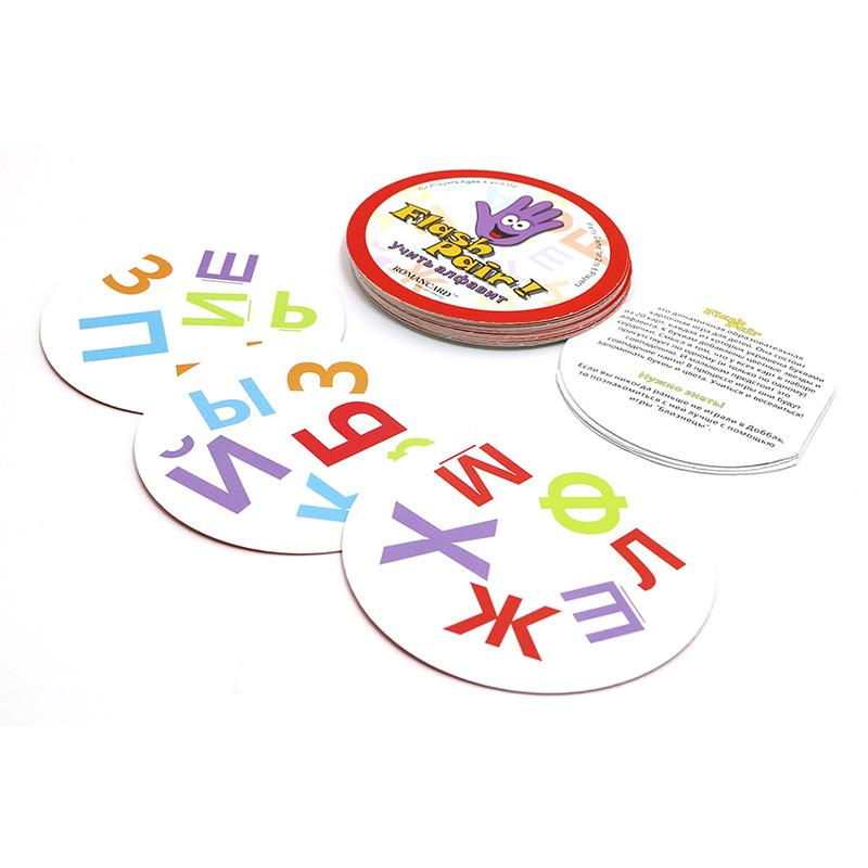 ROMANCARD hot spot flash pair 5 style English rules inside it suitable for kids family educational toys card game board games