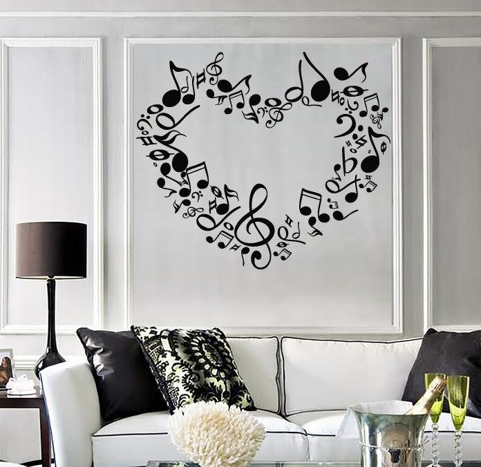 Removable heart notes of love Wall Stickers for living room bedroom home wall decoration