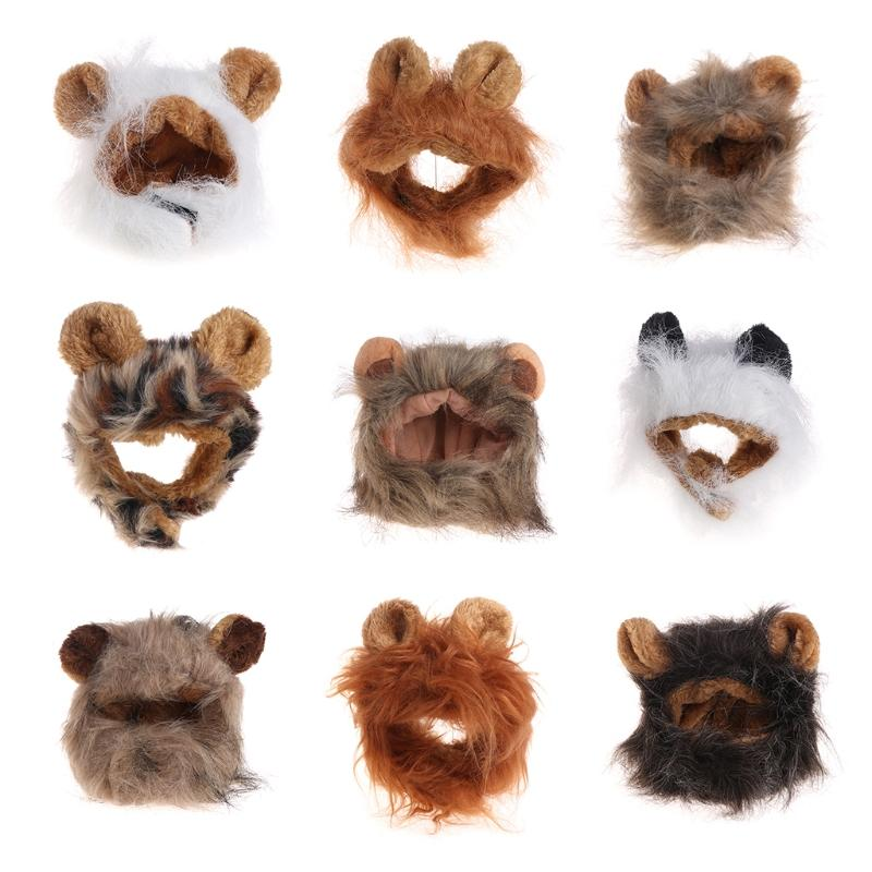 53653ce1f Pet Costume Cosplay Lion Mane Wig Cap Hat For Cat Halloween Xmas Clothes  Fancy Dress With Ears Party Outfit Halloween Cat Costumes For Kids Halloween  Cat ...