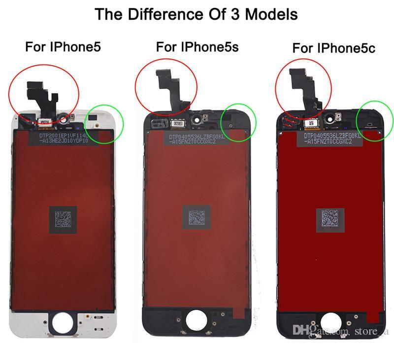 Haute Qualité pour iPhone 5C LCD Ecran Tactile Digitizer Assemblée Complète pour iPhone 5 5G 5S SE LCD Colle Froide Cadre