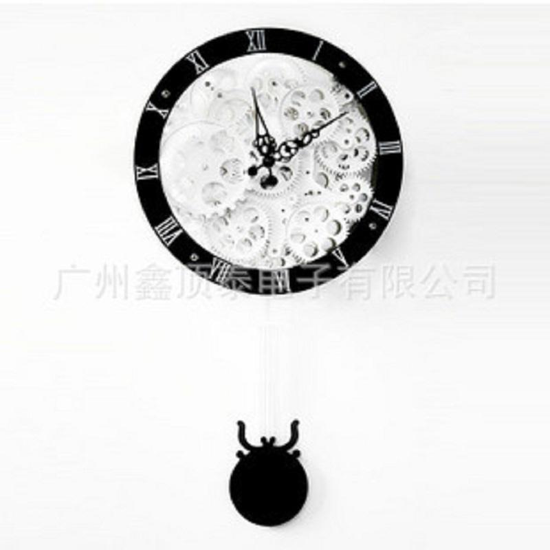 Gear Home Decor Home Decor Watch Wanduhr Modern Design Vintage Relojes  Pared Decoracion Wrought Iron Wall Clock Metal +Plastic Wooden Wall Clocks  For Sale ...
