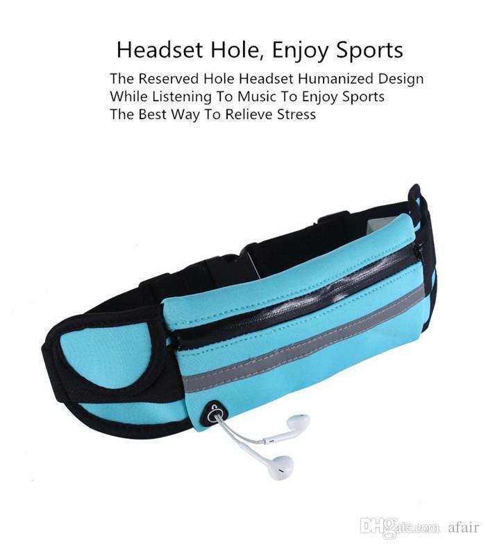 방수 허리 가방 야외 실행 스포츠 조깅 벨트 화니 팩 파우치 iPhone X 용 방수 전화 케이스 XS MAX XR 8 7 6 플러스 DHL