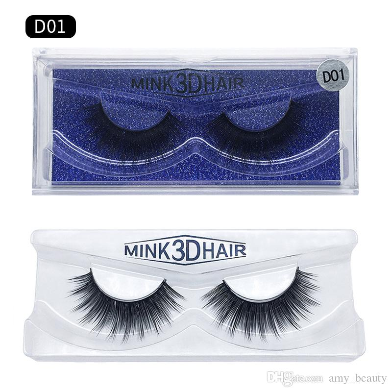 New makeup 3D Mink eyelashes Thick real mink HAIR false eyelashes natural for Beauty Makeup Extension False EYElashes 15 Models DHL