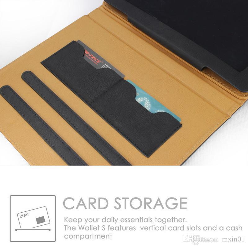 Роскошный загар Мягкий кожаный бумажник Стенд Флип Чехол Smart Cover С Слотом Для Карты для Нового iPad 9.7 2017 2018 Air 2 3 4 5 6 7 Air2 Pro 10.5 Mini