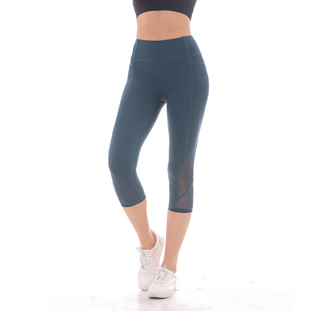 2018 Women summer sports leggings fashion sexy thin comfortable running active mesh breathable stretch fitness pants female S18101506