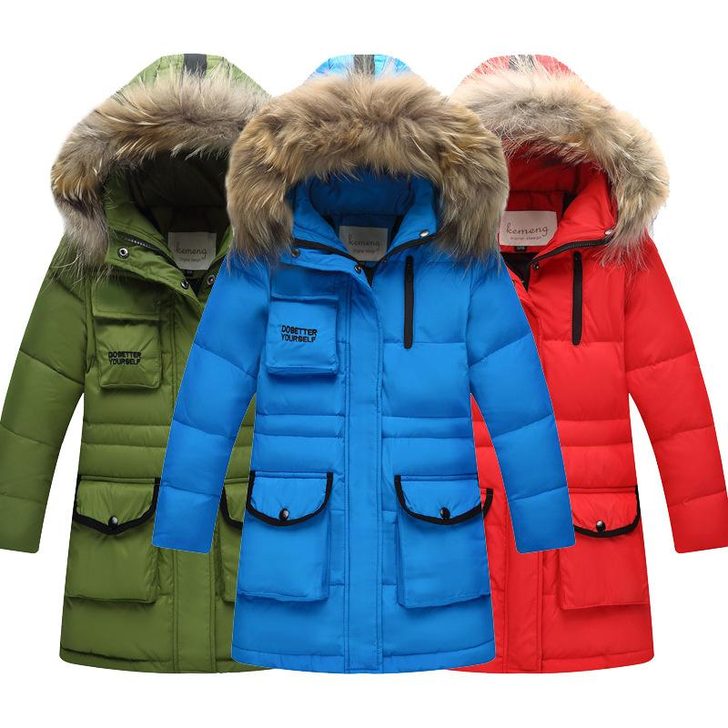 d896e49c191f 2018 Winter White Duck Down Jacket For Boy Clothes Children s Clothing For  Snow Wear Kids Outdoor Coat Fur Hooded Warm Outerwear