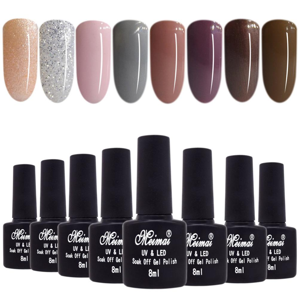 UV Gel Nail Polish Dark Shade Understated Colors Soak Off Home Gel ...