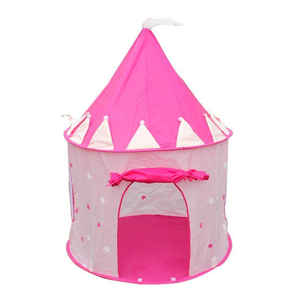 Tragbare rosa Pop-up-Spielzelt Kinder Mädchen Prinzessin Schloss im Freien  Haus