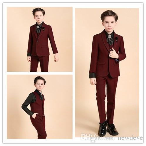 0ce42dec9 2018 Design Children Formal Wear 1 Button Boy Wedding Groom Suits ...