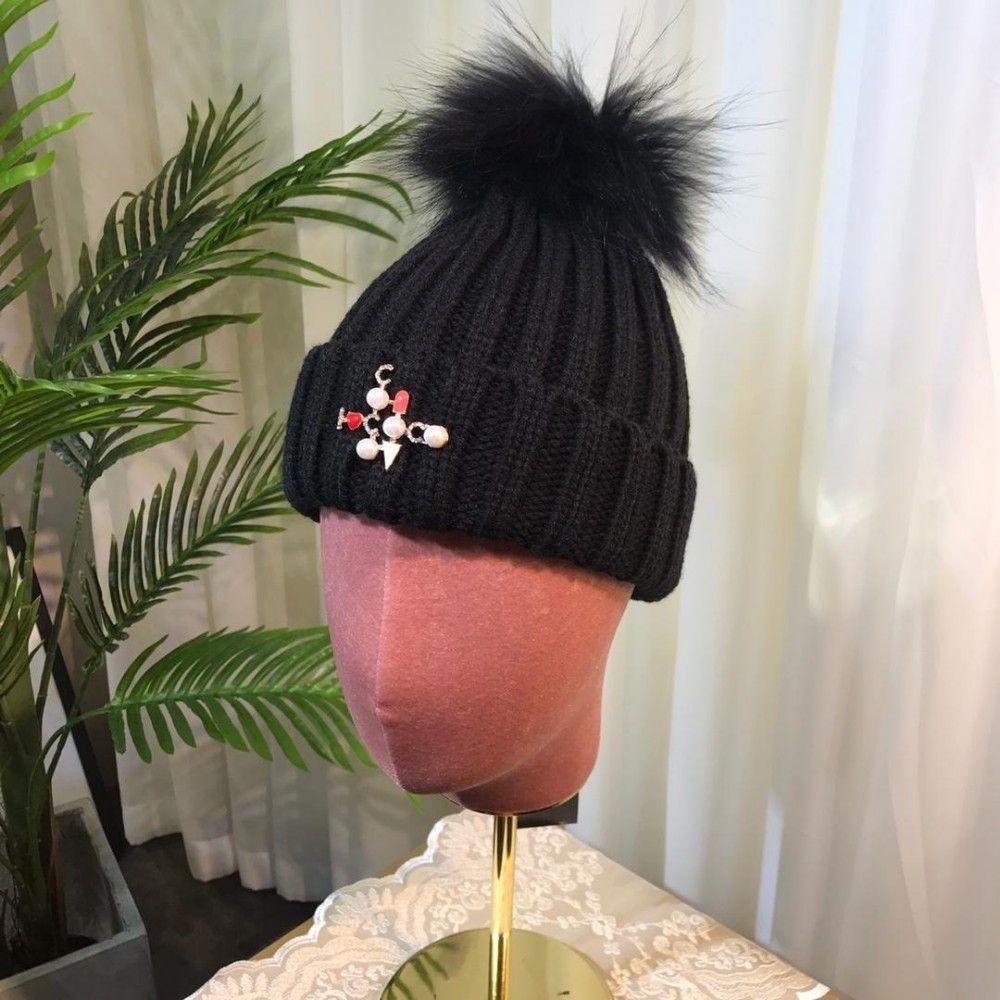4132e57f72f Tide Knitting Cap Wool Yarn Hats Autumn Winter Version Cold Cap Female  19986 Men Cap Brand Hats Unisex Cap Online with  53.56 Piece on Henan68 s  Store ...