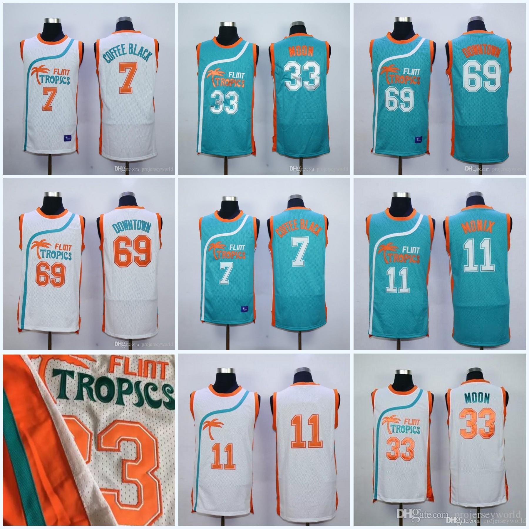 2019 69 Downtown Tropics Semi Pro Movie Jerseys 33 Jackie Moon 7 Coffee  Black 11 Ed Monix Basketball Jerseys All Stitched From Projerseyworld 8d27a5c39