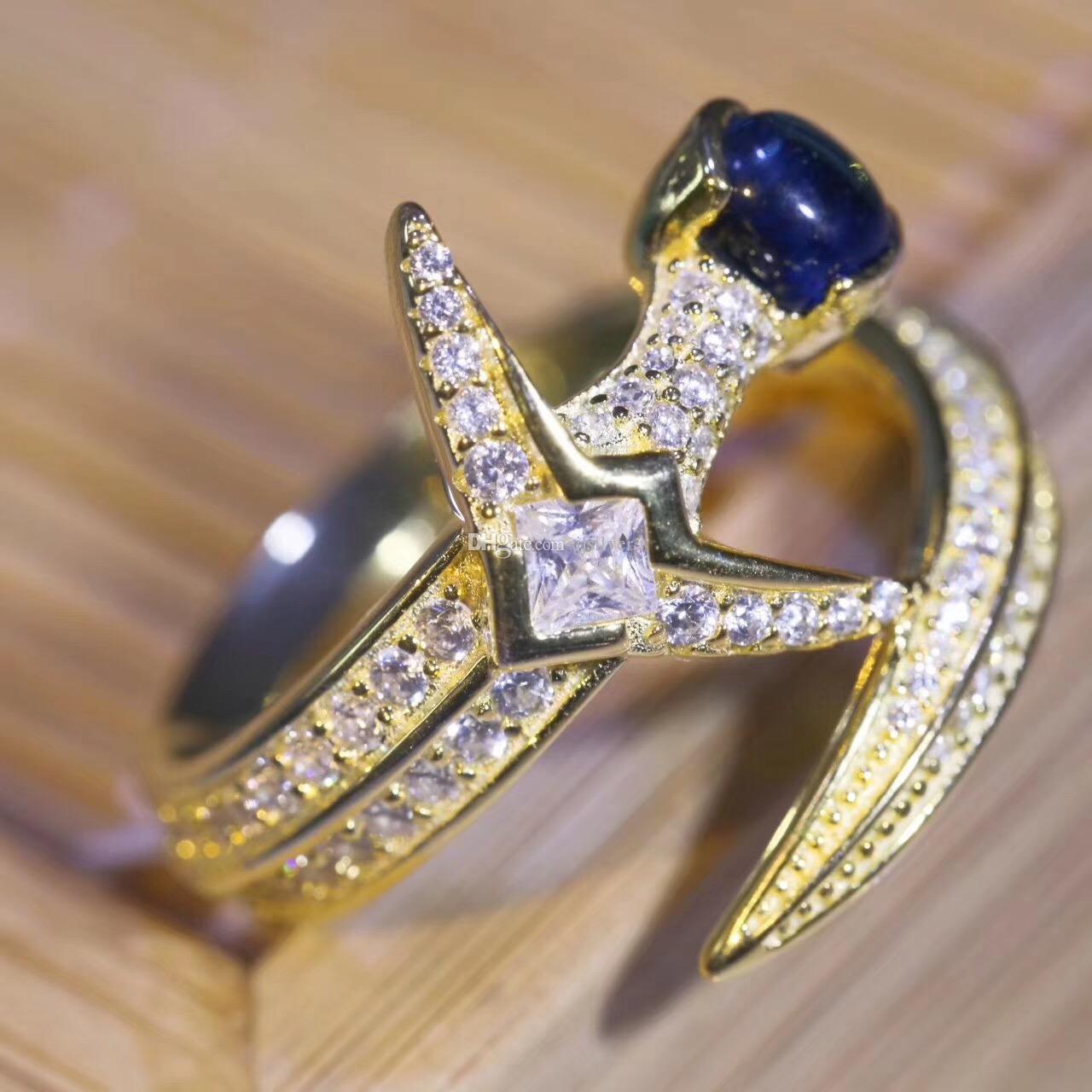 100% 925 Ayar Gümüş Açıkça CZ Salı Aşk Kılıç Parmak Yüzük Kadınlar için Kız Güzel Takı Hediye Düğün anneau
