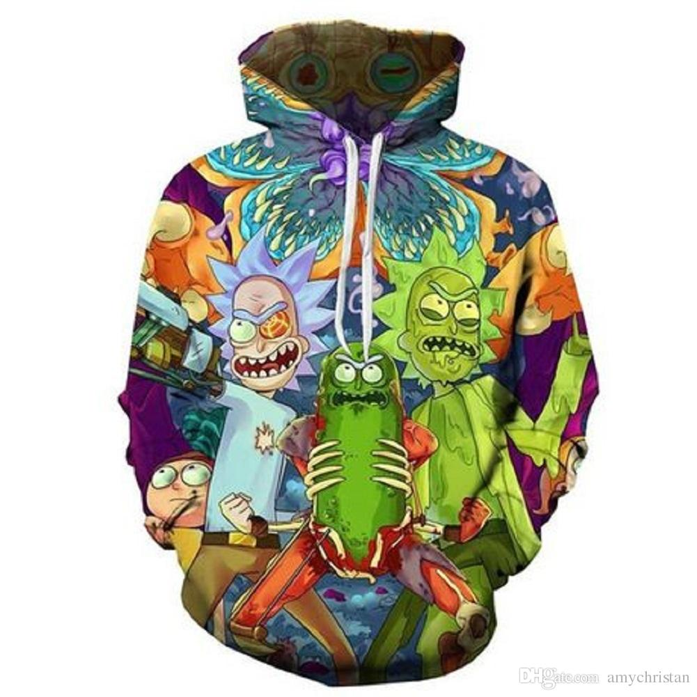 83096739 2019 Men'S Hooded Fleece Sweatshirt 3D Digital Printing Novelty Color Block  Hoodies Cozy Sport Outwear From Amychristan, $35.53 | DHgate.Com