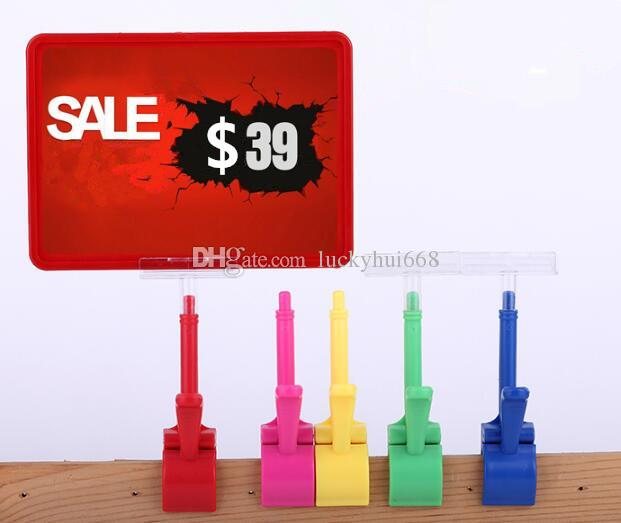 A5 Frame pop advertising poster display stand rack fashion Supermarket Thumb clip Fruit vegetable price tag Promotions card holder