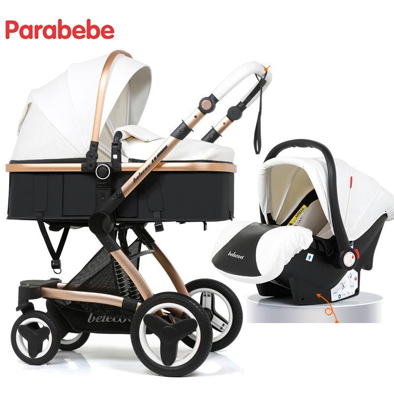 fd45f4517 Compre Lujo 3 En 1 De Cuero Cochecito De Bebé Nuevo Asiento De Coche Para  Bebé Recién Nacido Carro A $503.78 Del Dejavui | DHgate.Com