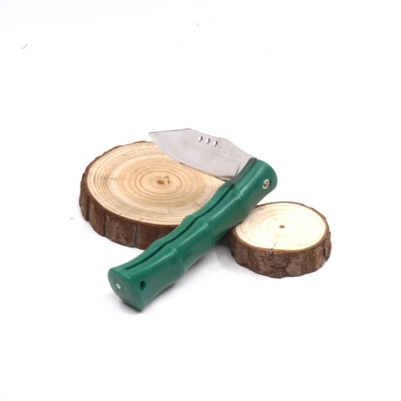 Bamboo Style Pocket Folding Knife Kitchen Fruit Paring Knife Outdoor Camping Knife Household EDC Multitool