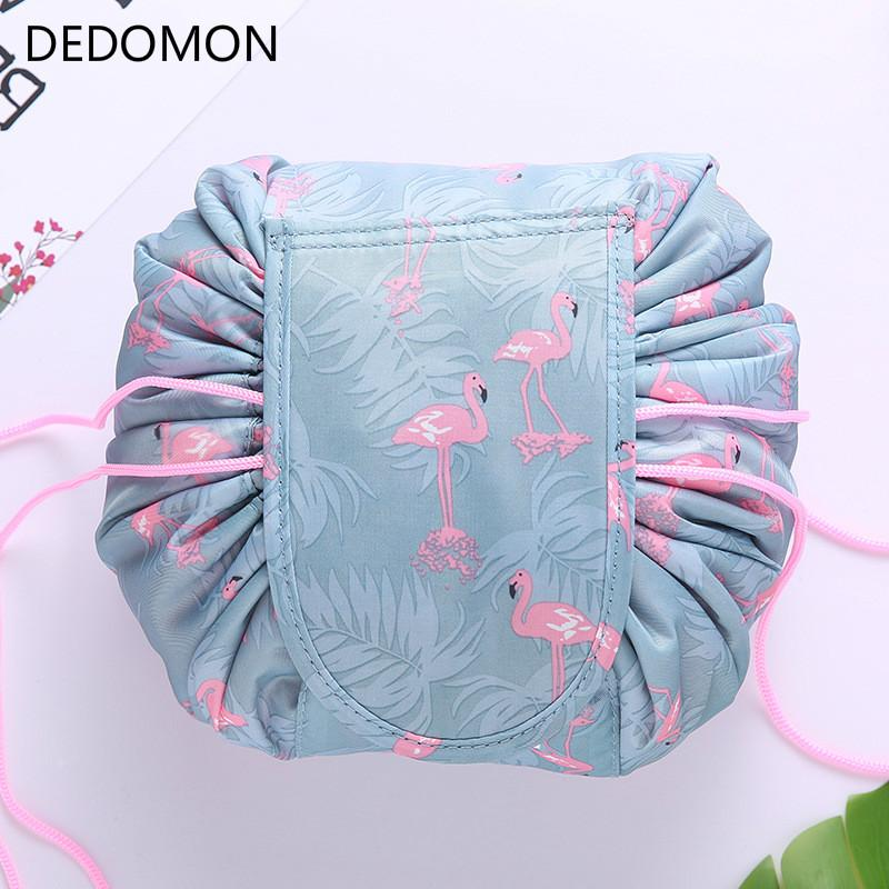 fef90432f9ee Animal Flamingo Cosmetic Bag Professional Drawstring Makeup Case Women  Travel Make Up Organizer Storage Pouch Toiletry Wash Kit Cosmetic Cases  Cosmetic ...