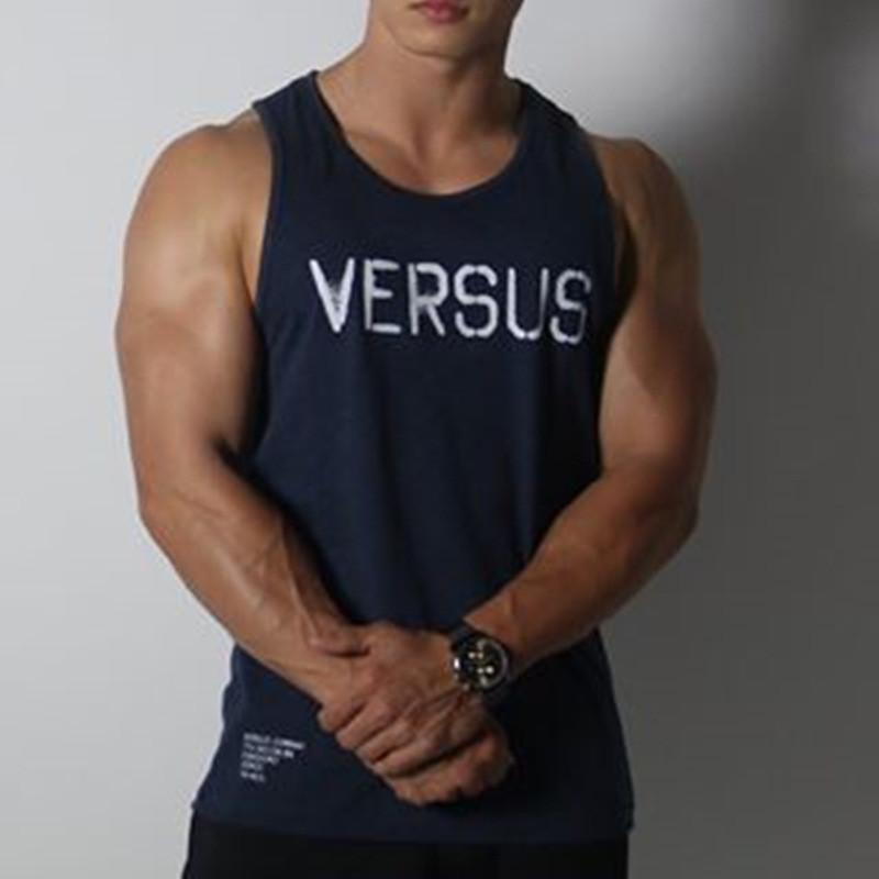 4d62687d00d056 Muscle Guys Brand Fitness Tank Top Men Bodybuilding Stringers Gyms Clothing Men  Shirt Crossfit Vests Cotton Singlets Muscle Tops Canada 2019 From Charle