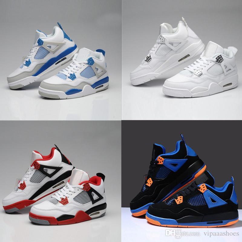 Nike air jordan 13 Cores Zapatos de baloncesto de calidad superior 4s Hombres Premium Triple Negro Cemento blanco Rojo gamuza Azul metálico Oro 4s