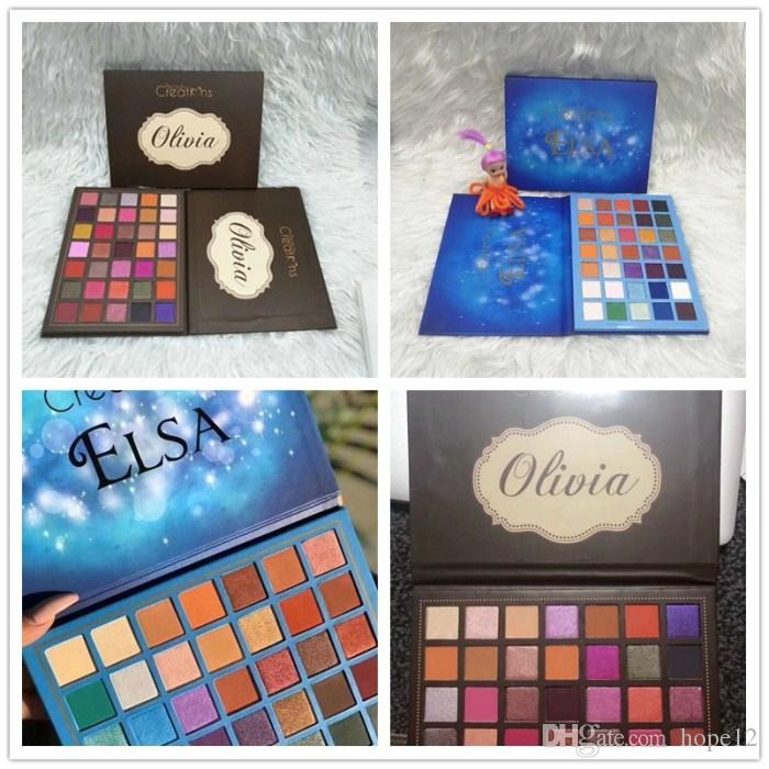 Newest makeup Palette Beauty Creations Olivia 35colors Eye shadow Palette Shimmer Matte High quality DHL shipping