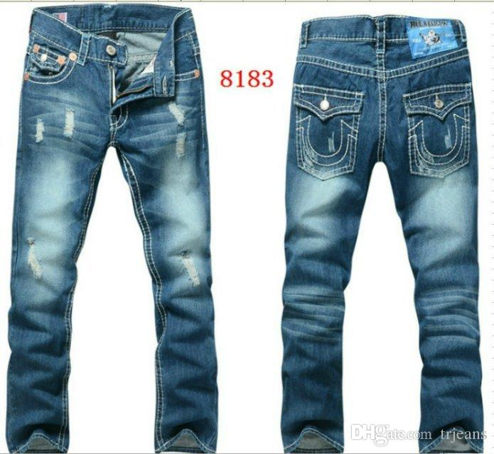 2018 Fashion American Flag Religion Jeans Men TR Jeans United States Code  30 to 40