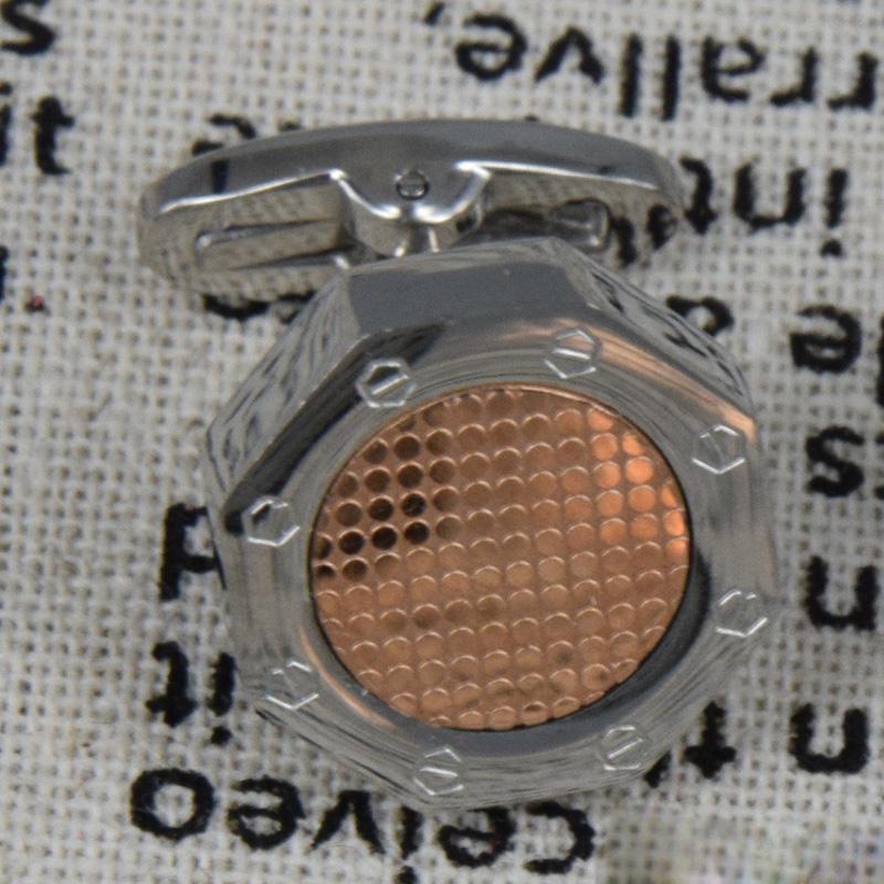 Erkekler Kol Düğmeleri Gümüş Kol Düğmesi Paslanmaz Çelik Manşet Kol Erkek Kol Düğmeleri Kaliteli Fransız Manşet Bağlantı Sekizgen