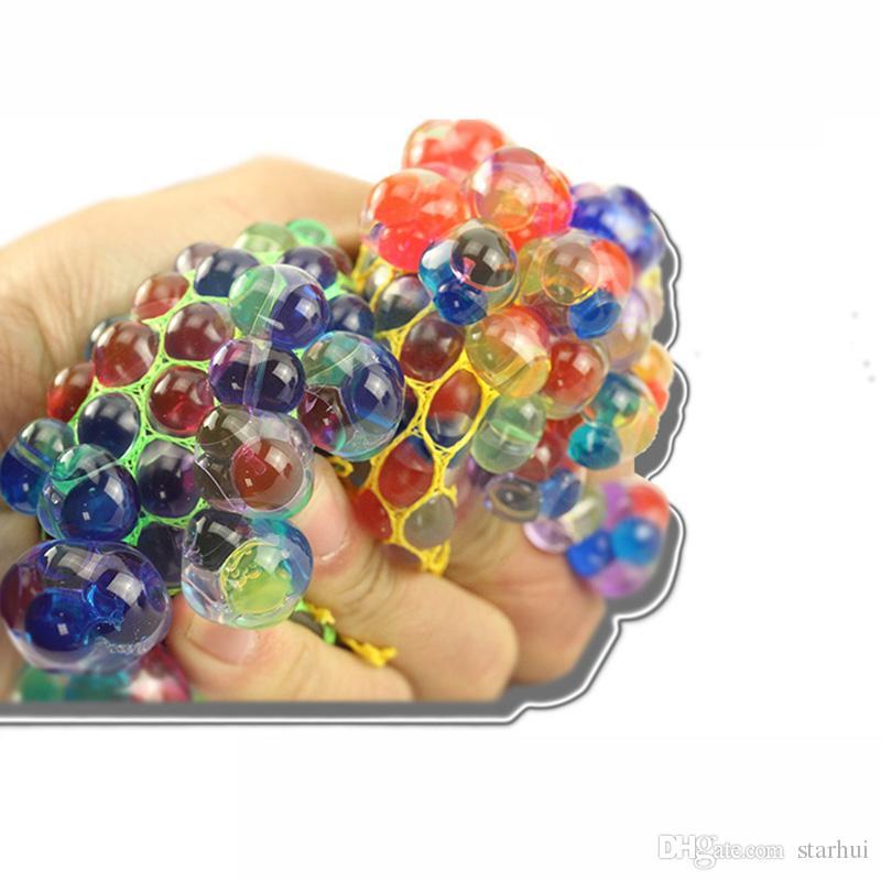 참신 안티 스트레스 메쉬 얼굴 릴리버 포도 공 자폐증 기복 짜기 구제 건강한 장난감 재미 가제트 환기 감아 완구 선물 용품 WX9-388