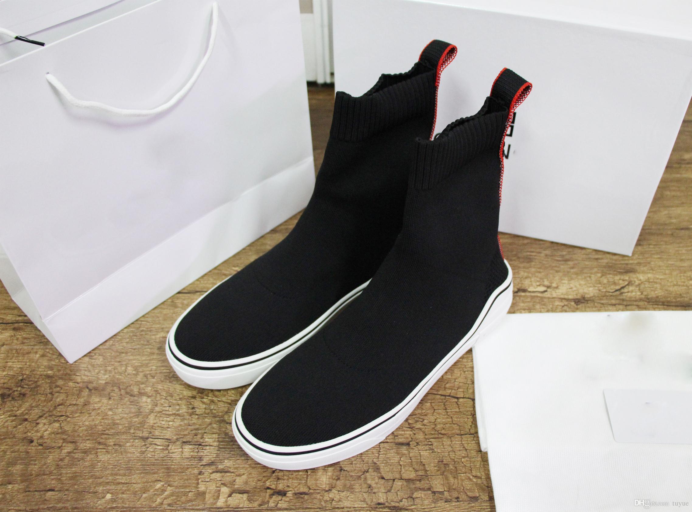 7c25f05bccc Compre Punto Medias Zapatillas De Deporte De Diseño Zapatos De La Parte  Superior Jacquard Marca Zapatillas De Deporte De Alta Calidad Para Hombres  Mujeres ...