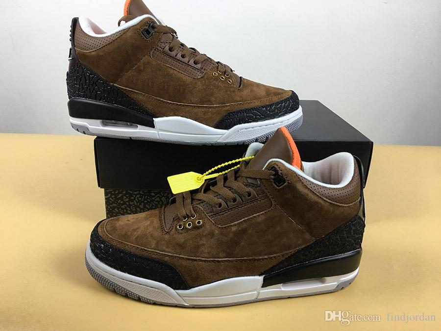 1079d4694eb130 2019 Hot 3 JTH NRG Sneakers Bio Beige Suede Men Basketball Shoes Tinker  Hatfield Black Elephant Print Overlays Shoes High Top Quality AV6683 200  From ...
