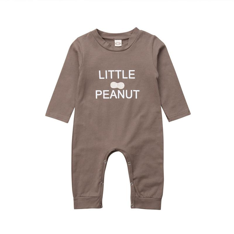 8ed62daeed8d 2019 Baby Boys Girls Clothes Little Peanut Letter Print Romper ...