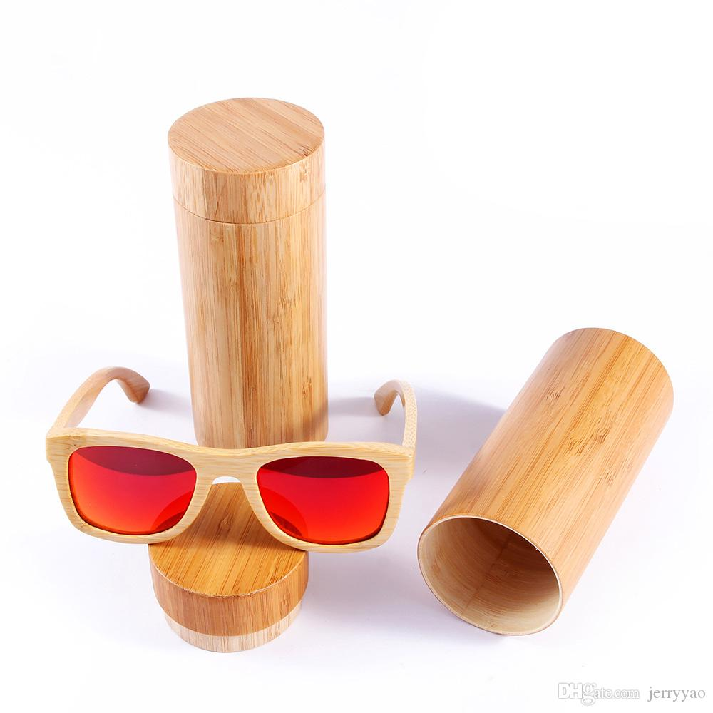 2018 Hot Selling Real Bamboo Solglasögon Polariserade Trä Glasögon UV400 Bamboo Solglasögon Märke Trä Solglasögon