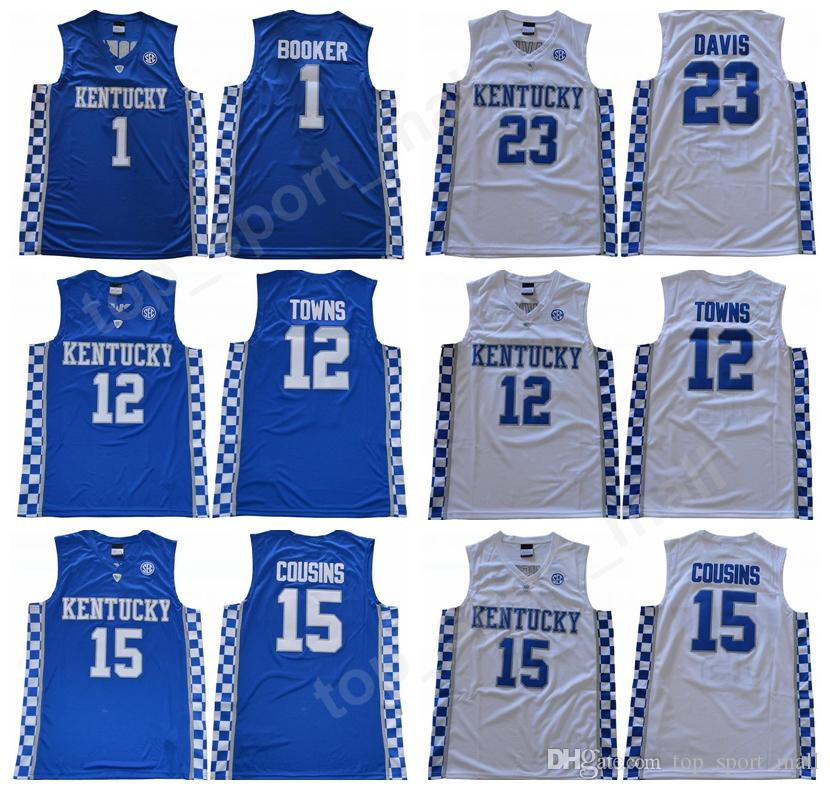 2019 Newest Kentucky Wildcats 1 Devin Booker College Jerseys Basketball 23  Anthony Davis 15 DeMarcus Cousins Jersey 12 Karl Karl Anthony Towns From ... b1ce29518