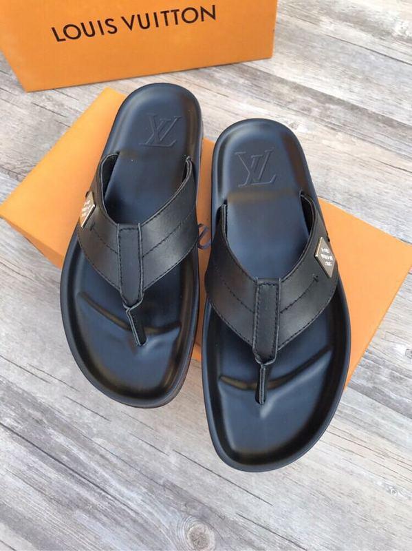 c1cb89f1582 Louis Vuitton Sandals Men Miamihispanicballetcom. Classic Black Flip Flops  207505 Guan Men Dress Shoes Boots Loafers