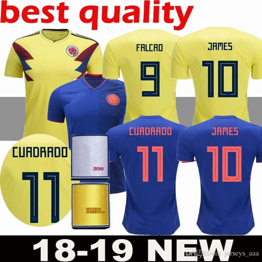 2019 2018 World Cup Men S Football Jersey Columbia 10 JAMES 9 FALCAO 11  CUADRADO National Team Home Away Football Jerseys From Jerseys aaa bf3fdfcce