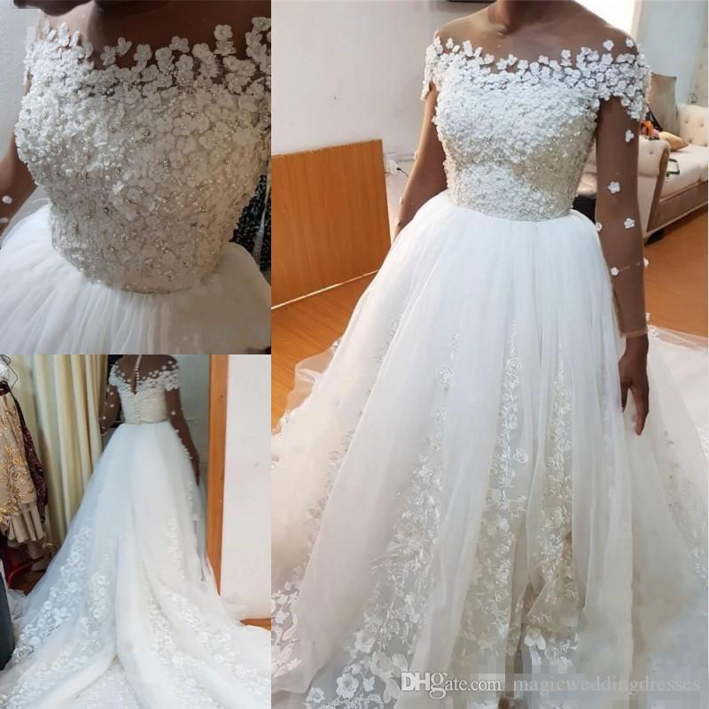 Discount Princess African Nigeria Plus Size Wedding Dresses 2018 ...