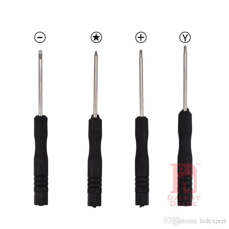 Kit de levier de réparation 9 en 1 Outils d'ouverture avec tournevis en Y Tournevis Torx Pentalobe Star 5 points pour APPLE iPhone X 8 7 6S 6 Plus 5S