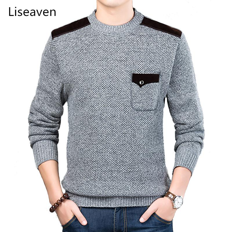 7533e20162c4 2019 Liseaven Sweater For Mens Pullovers Slim Fit Jumpers Knitwear O Neck  Sweaters Casual Clothing Men From Chivalife, $54.86 | DHgate.Com