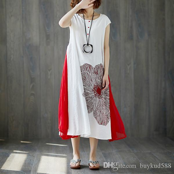 7cc9a3f033893 2018 New Arrival Women Sleeveless Retro Chiffon Summer Long Dress Free  Shipping for All Order and 10% Off for Order Over 500USD