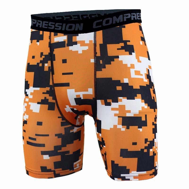 Men fitness shorts camo Tracksuit Gym shorts PRO Slim Fitted Active compression Sweatpants Bodybuilding Combat Dry Leggings short pants