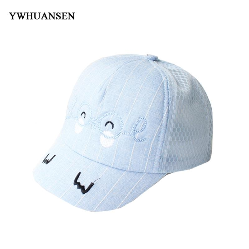 f26f00f04f9 YWHUANSEN Spring Children s Cotton Glasses Circle Net Baseball Caps Summer  Baby Outdoor Sun Caps Unisex Cartoon Snapback Hats Cap Hat From Wutiamou