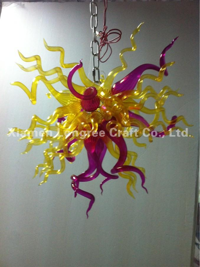 Mini Cheap Blown Glass Chandelier Light Custom Made LED Bulbs Modern Art Glass Home Decor Chihuly Style Glass Chandelier