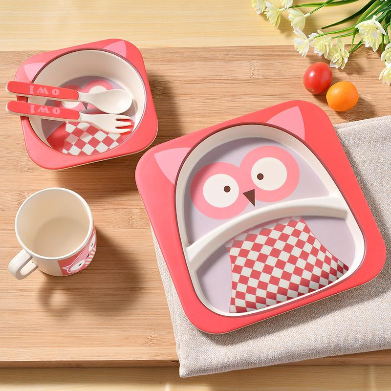 Bamboo Child Baby Tableware Plate Set Kids Children Dinnerware Set Dishes And Plates Sets Feeding Cup Soup Fork Spoon Utensils Baby Tableware Child ... & Bamboo Child Baby Tableware Plate Set Kids Children Dinnerware Set ...