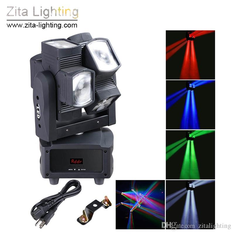 Zita Lighting Moving Head Lights LED Rotating Double Wheel RGBW 8X10W 4In1 Moving Beam Stage Lighting DMX512 DJ Disco Party Pub Light Effect