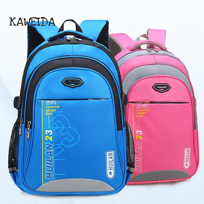 2d9712c2dd92 New Children School Bags For Teenagers Boys Girls Big Capacity Back To School  Backpack Orthopedic Waterproof Nylon Kids Book Bag Cheap And Cute Backpacks  ...