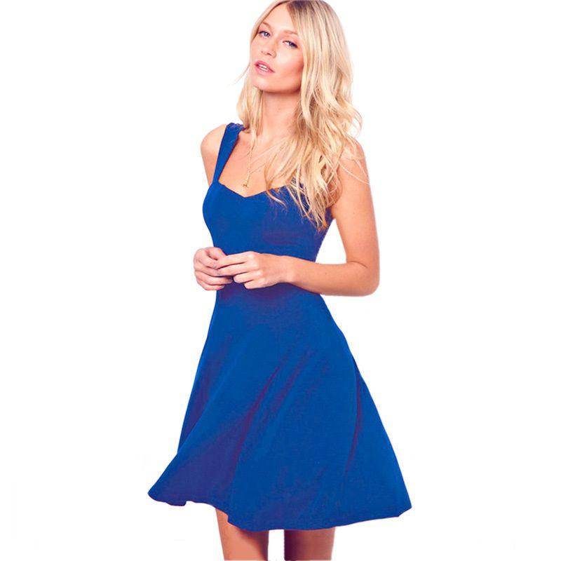 92e7339aec5 2019 Fashion Vintage Dresses Casual Elegant Women Summer Dress Sleeveless V  Neck Knee Length Dress Beach Party Skater Dress Lace Dress Black Dresses  From ...